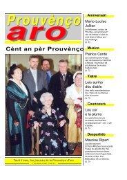 Cènt an pèr Prouvènço - Aix-Marseille I