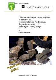 Dendrokronologisk undersøgelse af stabber og recent ... - NNU