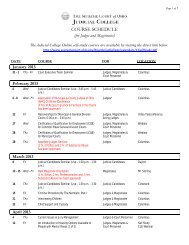 Judges and Magistrates Course Schedule 2013 - Supreme Court