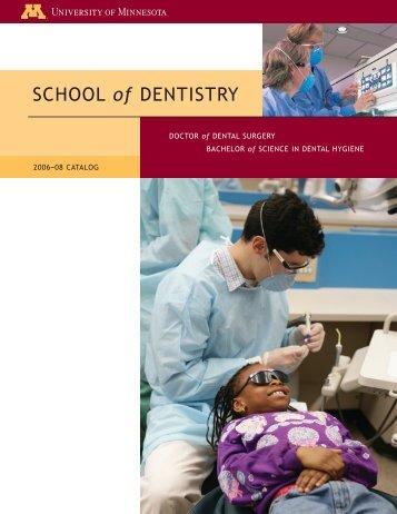 SCHOOL of DENTISTRY - University Catalogs - University of ...