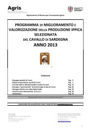 Programma operativo raduni 2009 - Sardegna Agricoltura