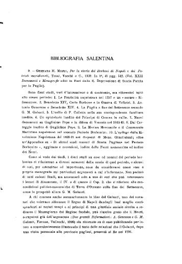 BIBLIOGRAFIA SALENTINA - culturaservizi.it