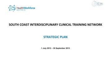 South Coast ICTN strategic plan - HETI