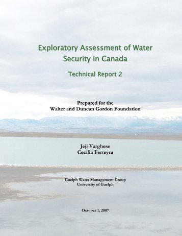 Exploratory Assessment of Water Security in Canada ... - WaterWiki.net