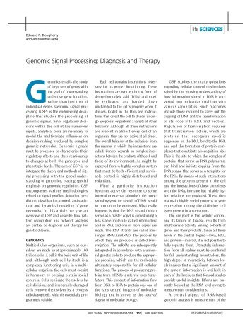 Genomic signal processing: diagnosis and therapy - ABES ...