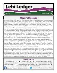 July 2013 - Lehi City