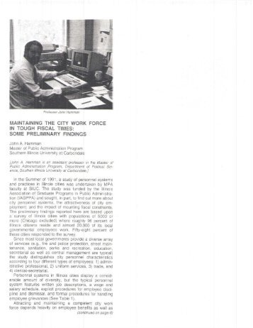 """1992. """"Maintaining the City Work Force in Tough Fiscal Times: Some ..."""