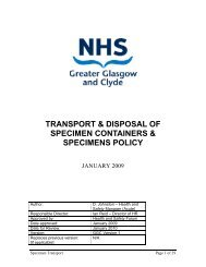 transport & disposal of specimen containers & specimens policy