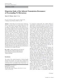 Dispersion Study of the Infrared Transmission Resonances of ...