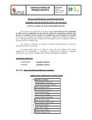 CONVOCATORIA DE PRUEBA ESCRITA - ITACyL