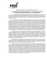 RECOMENDACIÓN NÚMERO 040/2001 DIRIGIDA AL CMD ...