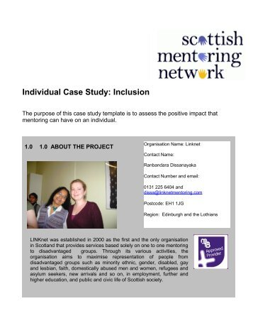 Individual Case Study: Inclusion - Scottish Mentoring Network