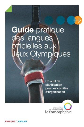 Guide pratique des langues officielles aux Jeux Olympiques
