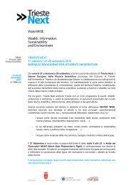 TRIESTE NEXT 2013 - Borsa di Soggiorno - Università degli Studi di ...