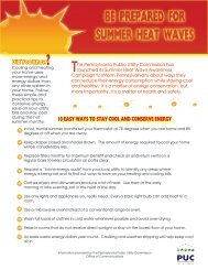 Summer Heat Wave - Pennsylvania Public Utility Commission