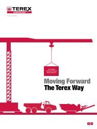 Moving Forward The Terex Way