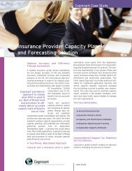 Insurance Provider Capacity Planning and Forecasting ... - Cognizant