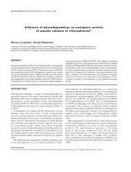 Influence of photodegradation on mutagenic activity of aquatic ...