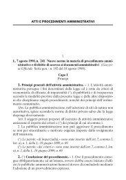 ATTI E PROCEDIMENTI AMMINISTRATIVI 1. L. 7 ... - La Tribuna