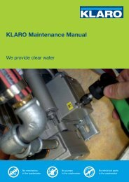 KLARO Maintenance Manual - KLARO GmbH