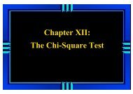 Chapter XII: The Chi-Square Test