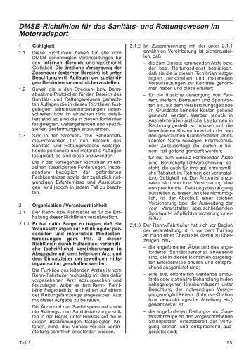 DMSB-Richtlinien für das Sanitäts- und Rettungswesen im ...
