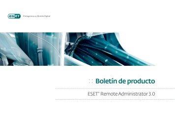 :: Boletín de producto - Eset