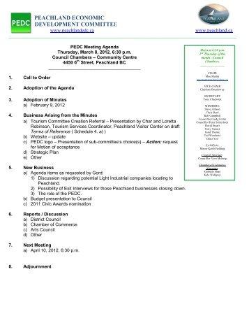 peachland economic development committee - District of Peachland