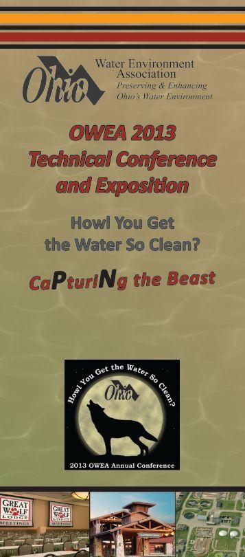 2013 Conference Program - Ohio Water Environment Association