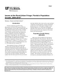 Issues at the Rural-Urban Fringe: Florida's Population Growth, 2004 ...