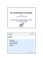 RF considerations for SwissFEL