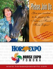 You are invited to be part of the Nation's Finest Horse Expos!