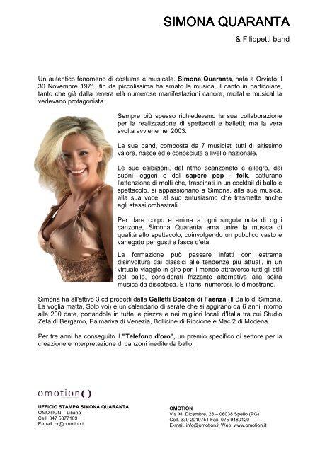 Simona Quaranta Calendario.Biografia Simona Quaranta Agriturismo E Bed And Breakfast