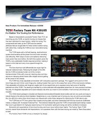 TC5R Factory Team Kit #30105 - Wheels Academy