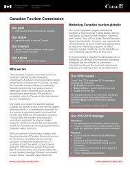 CTC Corporate Profile - Canadian Tourism Commission - Canada