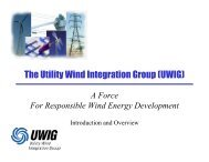 The Utility Wind Integration Group (UWIG) - Utility Variable ...