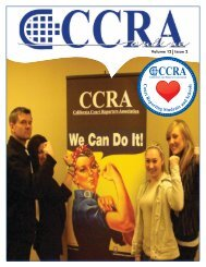 Volume 12 Issue 2 - California Court Reporters Association