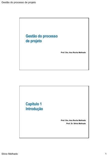 Gestão do processo de projeto - Comunidade da Construção