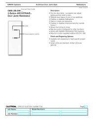 OMX-2B-DW-__ 2-Button ARCHITRAVETM Door Jamb ... - Lutron