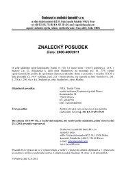 ZNALECKÝ POSUDEK číslo: 2600-480/2011 - OKdrazby.cz
