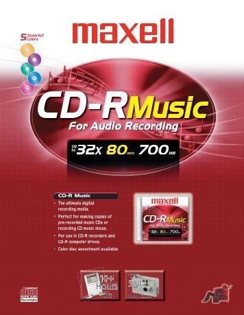 CD-R Music - Maxell Canada