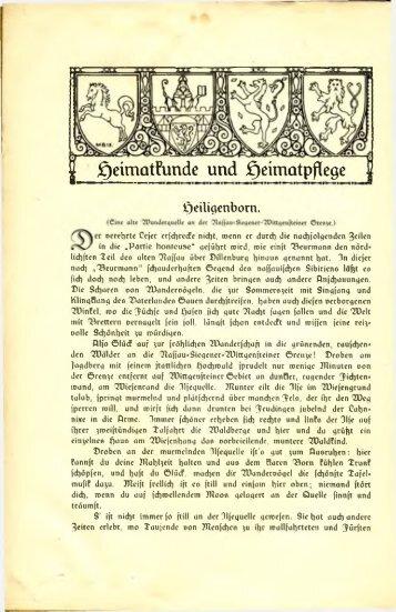 ^ Heimatkunde und ^eimatpßege^ ^eüigertbom. - Wittgensteiner ...