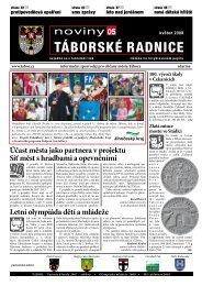 Noviny Táborské Radnice 2008 - Květen