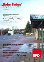 """Roter Faden"" - SPD-Ortsverein Sehnde"