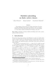 Faithful embedding on finite orders classes - Pages personnelles à ...