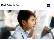 Carl Zeiss in Focus
