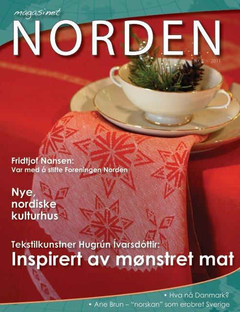 Inspirert av mønstret mat - Forsiden - Foreningen Norden