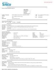2065 SYSCO GREEN GLASS & M... 1 / 2 - Sysco Canada
