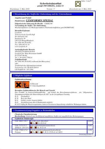 LYSOFORMIN SPEZIAL - Lysoform.ch