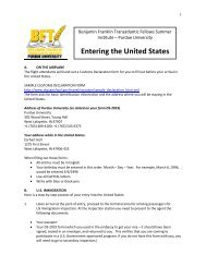 Entering the United States - Purdue University